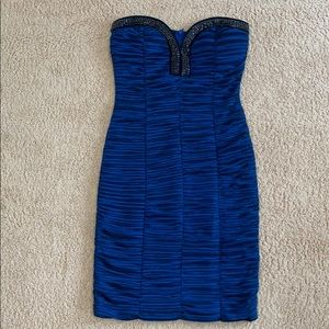Dark Blue Sequin Sculpt Dress